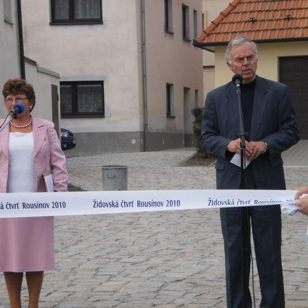 Slávnostné odovzdanie Židovskej štvrti v Rousínove